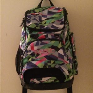 Very colorful and vibrant Speedo (35L) bag
